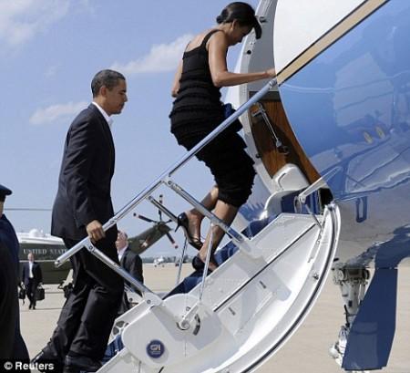 Obama-michelle plane